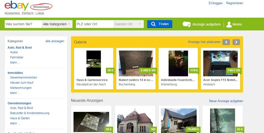 ebay kleinanzeigen reinigungskraft finden putzchecker. Black Bedroom Furniture Sets. Home Design Ideas